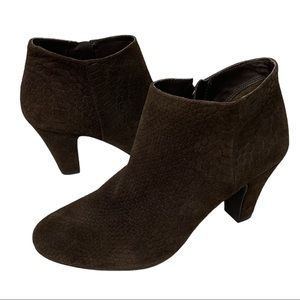 BCBGeneration Dianah Suede Ankle Boots Brown Sz 8B